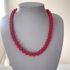 Pink American Eagle beaded necklace